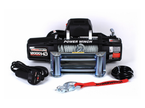 Powerwinch PW12000XT Electric winch with wire cable or synthetic rope