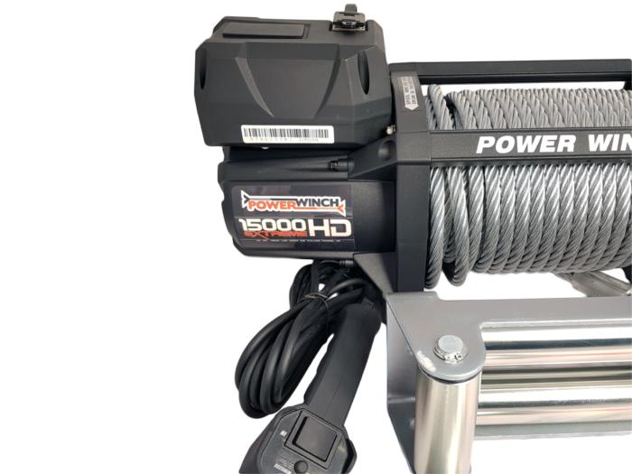 Powerwinch PW15000XT Elektrische lier met staalkabel of liertouw