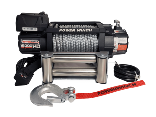 Powerwinch PW15000XT Electric winch with wire cable or synthetic rope