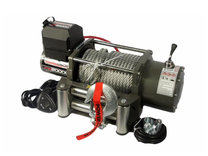 Powerwinch PW20000 Elektrische lier met staalkabel