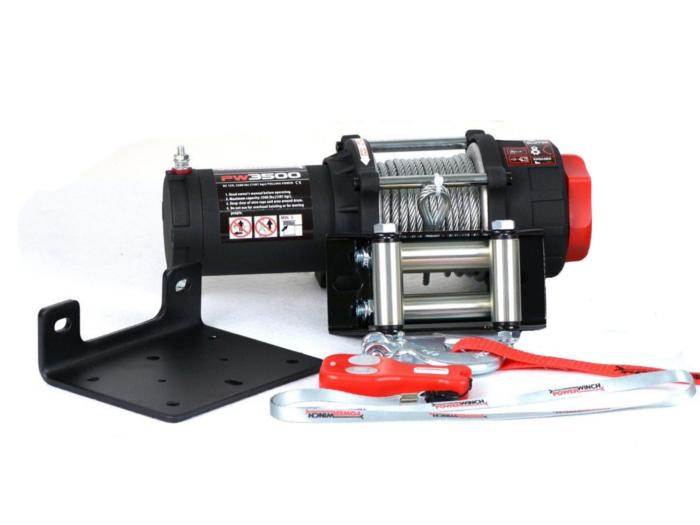 Powerwinch PW3500 Elektrische lier met staalkabel of liertouw