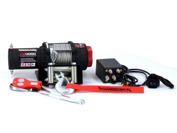 Powerwinch PW4000 Elektrische lier met staalkabel of liertouw