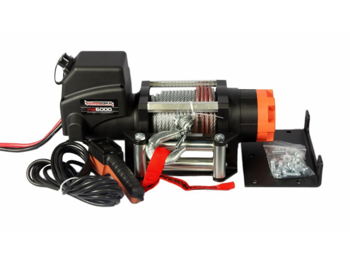 Powerwinch PW6000 Elektrische lier met staalkabel of liertouw