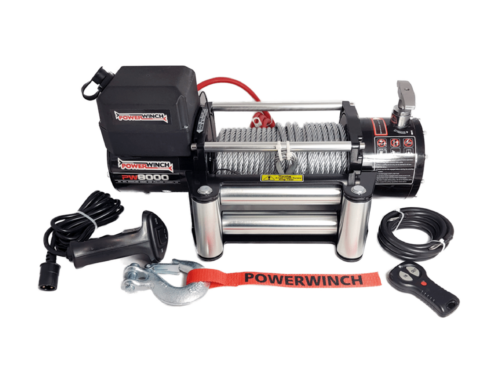 Powerwinch PW8000 Electric winch with wire cable or synthetic rope