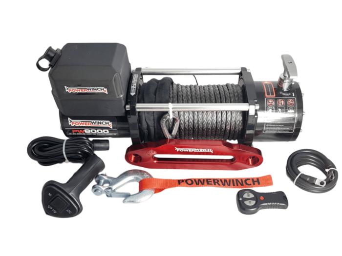 Powerwinch PW8000 Elektrische lier met staalkabel of liertouw