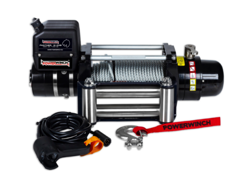 Powerwinch Panther 12 Electric winch with wire cable or winch rope