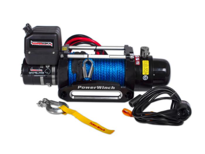Powerwinch Panther 9.5 Elektrische lier met staalkabel of liertouw