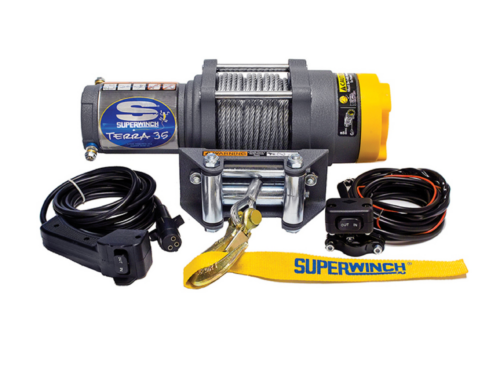 Alltracks Superwinch Terra 35 Elektrische lier met staalkabel of liertouw