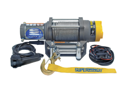 Alltracks Superwinch Terra 45 Electric winch with steel cable or winch rope