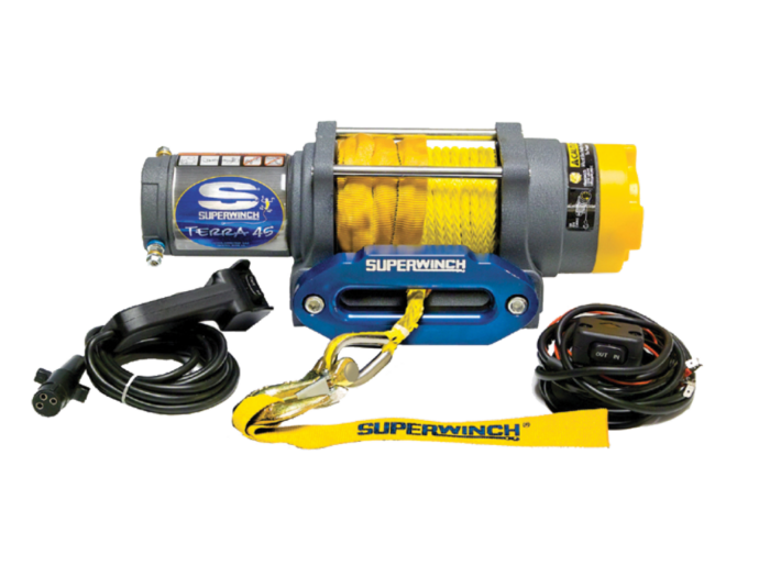 Alltracks Superwinch Terra 45 Elektrische lier met staalkabel of liertouw