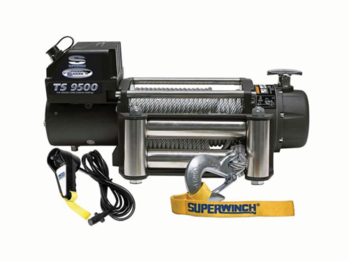Superwinch Tiger Shark 9500 elektrische lier met staalkabel
