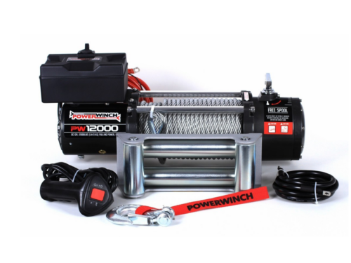 Powerwinch PW12000 Electric winch with wire cable or winch rope