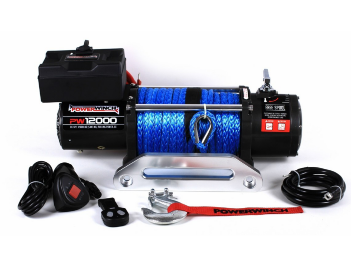 Powerwinch PW12000 Elektrische lier met staalkabel of liertouw