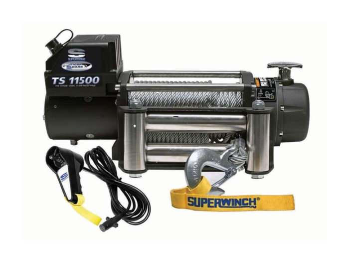 Superwinch Tiger Shark elektrische lier met staalkabel of liertouw