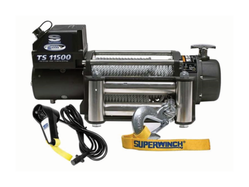Superwinch Tiger Shark 11500 electric winch with wire cabel or synthetic rope