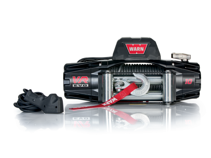 Warn VR EVO 10 Electric winch with wire cable or synthetic rope