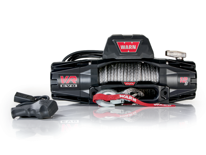 Warn VR EVO 12 Electric winch with wire cable or synthetic rope