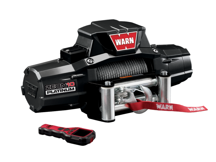 Warn ZEON 10 Platinum Electric winch with wire cable or synthetic rope