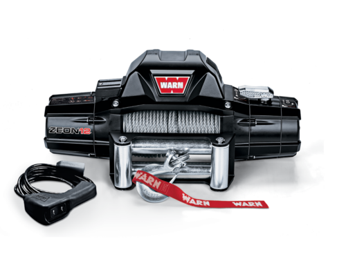 Warn ZEON 12 Electric winch with wire cable or synthetic rope