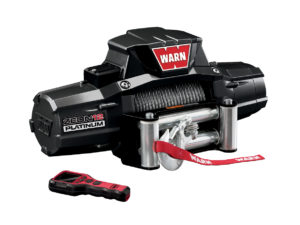 Warn ZEON 12 Platinum Electric winch with wire cable or synthetic rope