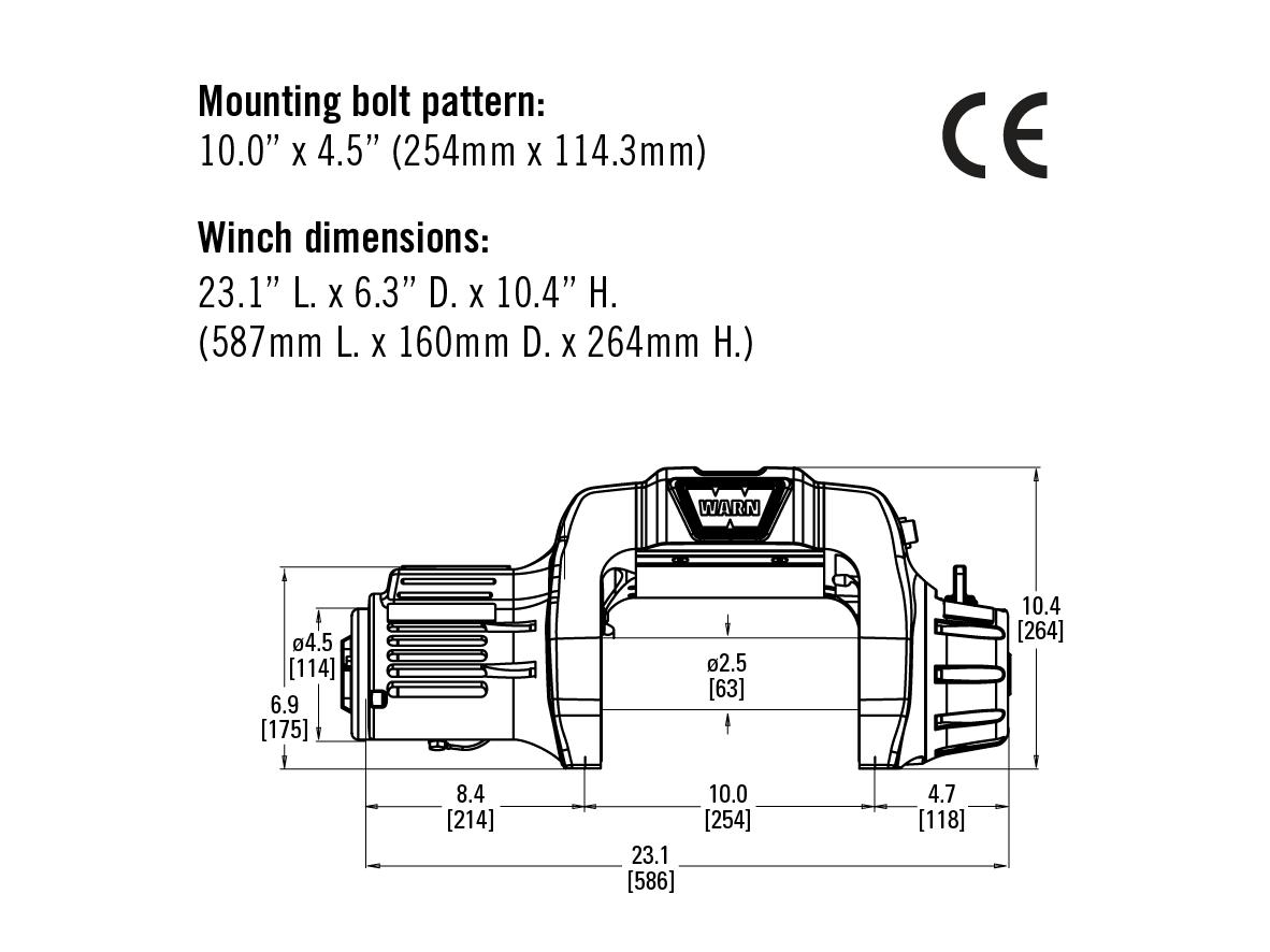 Warn 9.5 Cti 12V - Electric winch with synthetic rope - Alltracks.euAlltracks