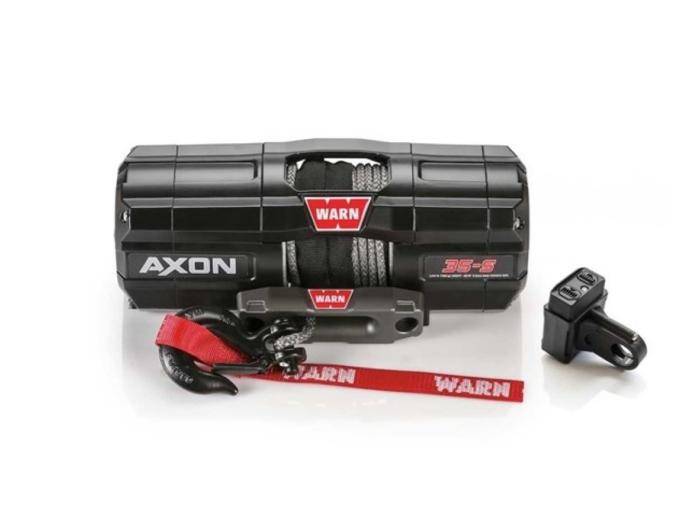 Warn AXON 35-S Elektrische lier met synthetisch liertouw