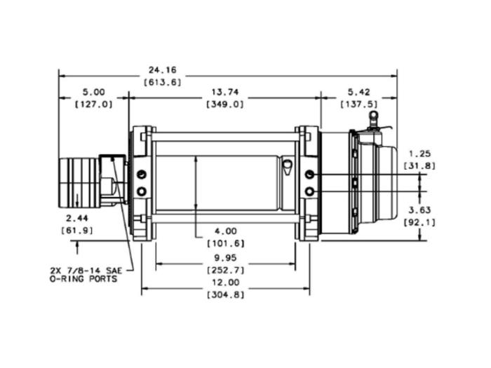Warn S12 Hydraulische lier Industrieel - 30285