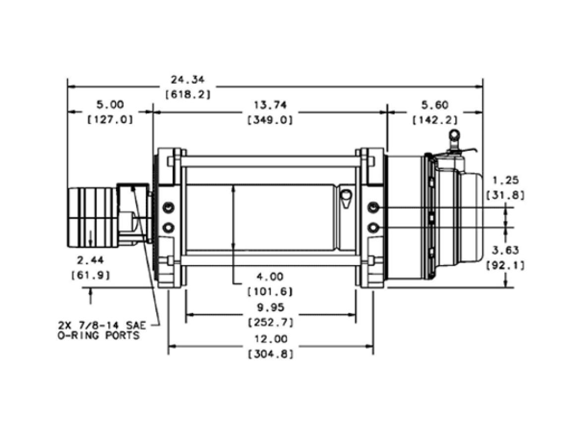 Warn S15 Hydraulische lier Industrieel - 65931