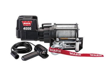 Warn DC electric winch with wire cable